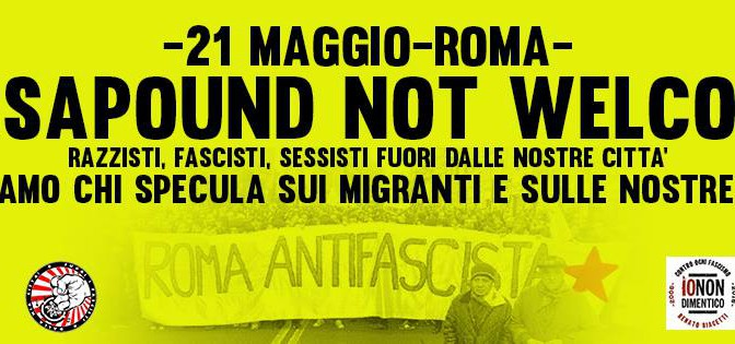 13 MAG // ASSEMBLEA PUBBLICA – CASAPOUND NOT WELCOME