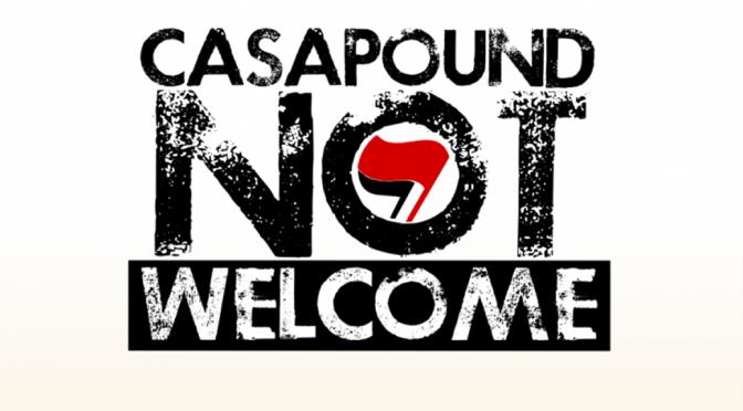 Sabato 21 maggio ore 9 Piazza dell'Esquilino CASAPOUND NOT WELCOME